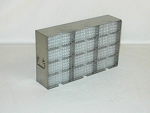 Upright Freezer Rack MS-12 for 48 Plate Storage